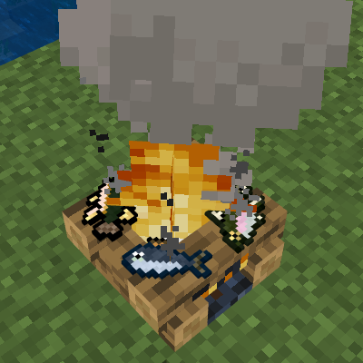 Campfire with fish